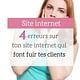 4 erreurs sur ton site internet qui font fuir tes clients